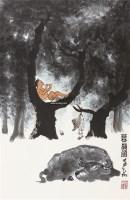 牧韵图 镜片 设色纸本 - 139817 - 中国书画二 - 2011春季艺术品拍卖会 -收藏网
