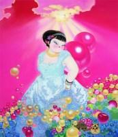 此时此刻——5 布面油画 - 孟燕 - 中国油画 雕塑专场 - 2008年迎春艺术品拍卖会 -收藏网