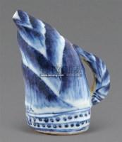 青花笋形水盂 -  - 梁溪雅玩 - 2011年夏季拍卖会 -中国收藏网
