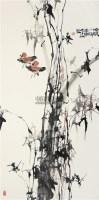 清风瘦影 镜片 设色纸本 - 骆孝敏 - 中国书画 - 2011年四季书画拍卖会 -收藏网