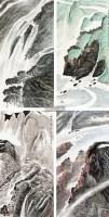 春夏秋冬图 (四幅) 镜片 设色纸本 - 136745 - 艺海撷珍—书画艺术品专场 - 2011年秋季拍卖会 -收藏网