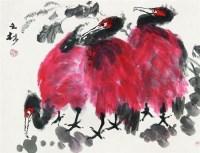 花鸟 镜心 设色纸本 - 周之林 - 中国书画 - 2008第二季艺术品拍卖会 -收藏网
