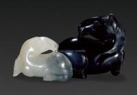 黑白玉双马 -  - 玉器专场 - 2009仲夏拍卖会 -收藏网