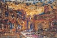 梦境中的街道 - 139822 - 油画 水彩画 - 2007年春季艺术品拍卖会 -收藏网
