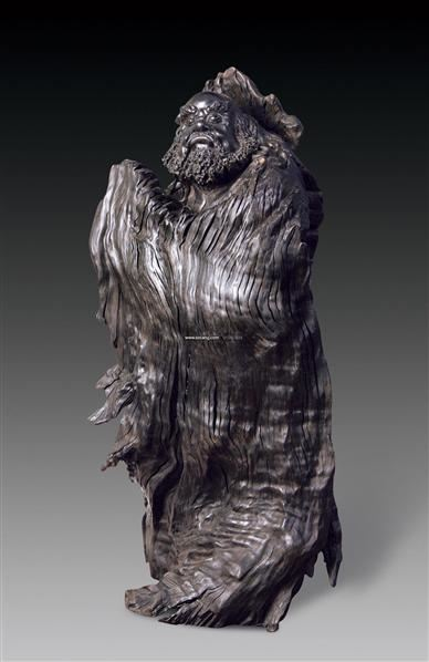 达摩乌木雕刻 - - 瓷杂