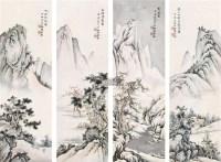 四季山水 镜框 设色纸本 - 5014 - 中国近现代书画 - 2011秋季拍卖会 -收藏网