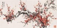 红梅 镜心 设色纸本 - 116631 - 中国书画 - 2006秋季拍卖会 -收藏网