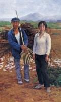 收工 布面 油画 - 王少伦 - 中国油画 - 2008春季大型拍卖会 -收藏网