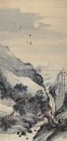 松鹤延年 立轴 纸本 - 139945 - 中国古代书画 - 首届艺术品拍卖会 -收藏网
