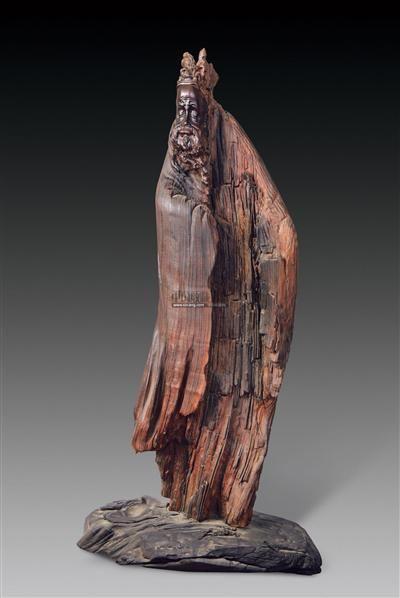 乌木雕刻杜甫 - - 瓷杂