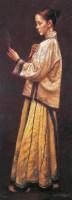 对镜 布面 油画 -  - 油画、雕塑、版画暨广东油画、水彩 - 2006冬季拍卖会 -收藏网