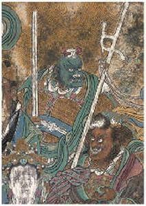 张明楼 永乐宫壁画局部 镜心 -  - 中国书画 - 2007年秋季艺术品拍卖会 -收藏网