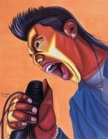 罗丹 2005年作 摇滚狂潮 布面 油画 丙烯 - 罗丹 - 中国当代油画 - 2006首届中国国际艺术品投资与收藏博览会暨专场拍卖会 -收藏网