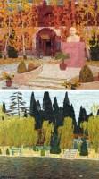 戈跃 风景 (两幅) 油画 - 戈跃 - 油画专场 - 2006首届艺术品拍卖会 -收藏网