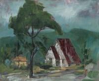 邱瑞敏 2004年作 风景 布上油彩 - 邱瑞敏 - 西洋美术 - 2006秋季大型艺术品拍卖会 -收藏网