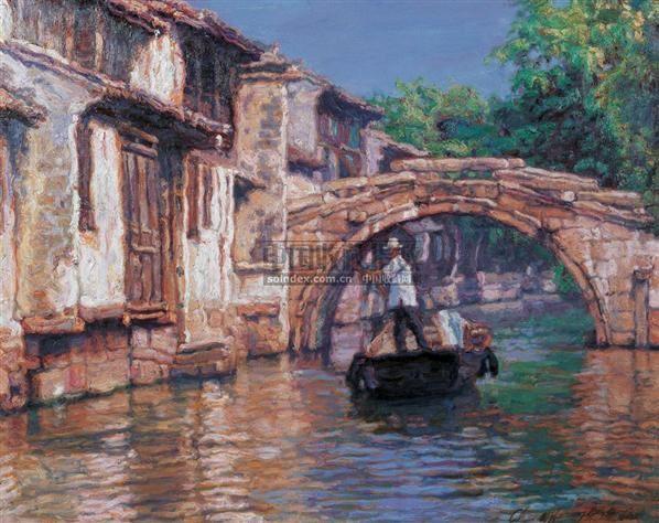 陈逸飞,1946年生,浙江镇海人。在1965年以优异成绩毕业于上海美术学院,同年入上海画院成为油画雕塑创作室的专职画家。后任油画组负责人。在1972年至1979年陈逸飞所创作的一系列作品在北京全国美术展览和上海美术展览会场多次获奖,其中一幅作品在1982年被评为1977年以来重大题材全国头等奖。它的作品被送往日本、德国、法国等国展出,重要作品并为中国主要的博物馆和美术馆所藏。 1980年陈逸飞赴美国纽约,在很短的时间里获得了艺术界的承认。他的作品于1980年在纽约的国际画展和新英格兰现代艺术中心展出。19
