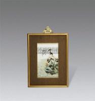 粉彩双鹤纹掛屏 -  - 瓷器及工艺品 - 2011春季拍卖会 -收藏网