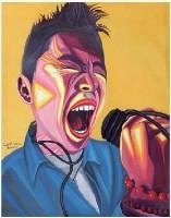 摇滚狂潮 布面 油画 - 罗丹 - 中国油画 雕塑 - 2007夏季拍卖会 -收藏网