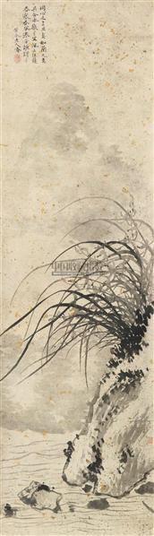 兰花 立轴 纸本 - 9609 - 中国古代书画、书法专场 - 2011首届春季拍卖会 -收藏网