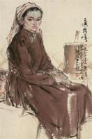 人物 镜片 纸本 - 114744 - 中国书画(二) - 2012迎春艺术品拍卖会 -收藏网