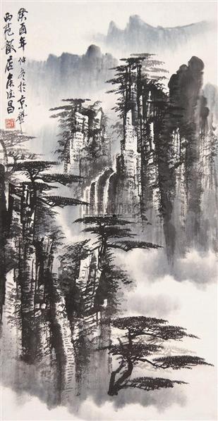 山水 立轴 设色纸本 - 130531 - 中国书画 - 2006年迎春拍卖会 -收藏网