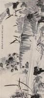 """花卉 立轴 水墨纸本 - 李鳝 - 中国书画 - 2011""""清花岁月""""跨年拍卖会 -收藏网"""