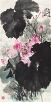 荷花 镜心 设色纸本 - 6234 - 中国书画 - 北京康泰首届艺术品拍卖会 -收藏网