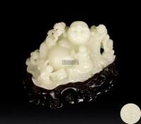 白玉童子闹弥勒摆件 -  - 瓷器、玉器、杂项 - 2012年台湾艺术品专场拍卖会 -收藏网