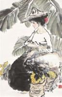 人物 立轴 设色纸本 - 127986 - 中国书画 - 北京康泰首届艺术品拍卖会 -收藏网