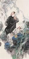 李白 杜甫漫游图 立轴 设色纸本 - 王明明 - 中国当代水墨 - 2006秋季拍卖会 -收藏网