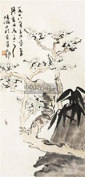 梅花 立轴 纸本 - 116006 - 老油画·中国书画·新钢笔画 - 2011春季图片