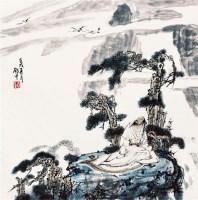 云逸图 镜心 设色纸本 - 117106 - 中国书画三 - 2011首届大型书画精品拍卖会 -收藏网