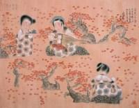 红叶赏音图 镜心 设色绢本 - 唐勇力 - 中国书画(二) - 2007秋季大型拍卖会 -收藏网