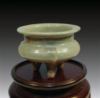 龙泉窑三足炉 -  - 中国陶瓷及艺术珍玩 - 2011秋季拍卖会 -中国收藏网