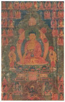 释伽牟尼佛唐卡 -  - 佛像唐卡 - 2007春季艺术品拍卖会 -收藏网