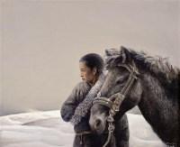 毛以岗   牧马人 - 毛以岗 - 中国油画专场 - 2007年春季艺术品拍卖会 -收藏网