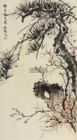 花鸟 镜片 设色纸本 - 胡根天 - 名家书画精品专场 - 2011年春拍艺术品拍卖会 -中国收藏网
