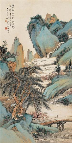 汪琨(1877-1947)溪山松云图 - 118997 - 中国书画(二) - 2007秋季艺术品拍卖会 -收藏网