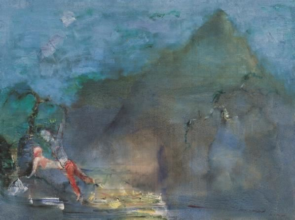 任小林 2003年作 江山如昔之四 布面油画 - 140578 - 中国当代艺术二十年 - 2006秋季拍卖会 -收藏网