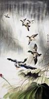 王渔父  荷塘飞花 -  - 中国书画 - 广东宝通拍卖公司艺术精品拍卖会 -中国收藏网