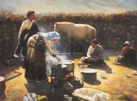 和谐家园 布面油画 -  - 油画之光—油画专场 - 北京康泰首届艺术品拍卖会 -收藏网