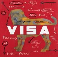 王广义 1998年作 VISA 布面油画 - 王广义 - 中国当代艺术二十年 - 2006秋季拍卖会 -收藏网