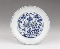 青花松竹梅纹盘 -  - 瓷器玉器艺术品 - 2005秋季青岛艺术品拍卖会 -收藏网