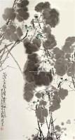 荷花 立轴 设色纸本 - 127608 - 中国书画专场 - 书画保真专场拍卖会 -中国收藏网