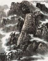 华岳松鸣图 立轴 设色纸本 - 张振学 - 中国书画(二) - 2012迎春艺术品拍卖会 -收藏网