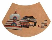 李强 寺庙 镜心 - 李强 - 当代中国书画(二) - 2006畅月(55期)拍卖会 -收藏网