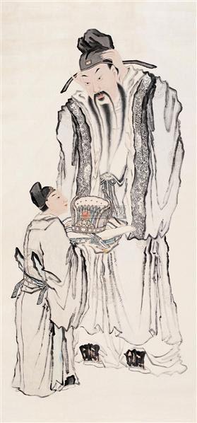 人物 镜心 设色纸本 -  - 中国书画(一) - 2006年秋季拍卖会 -中国收藏网