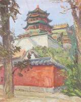 李宗津 颐和园 布面 油画 - 李宗津 - 中国书画油画 - 2006秋季艺术品拍卖会 -收藏网