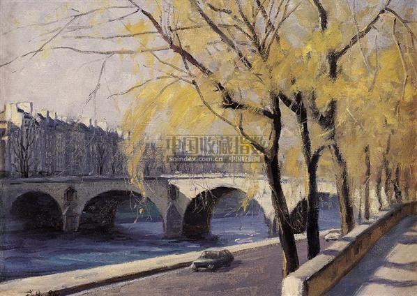 塞纳河—玛丽桥 布面油画 - 140897 - 中国油画 - 2006夏季艺术品拍卖会 -收藏网