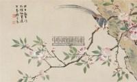 海棠绶带 镜心 设色纸本 - 罗岸先 - 中国书画四 - 第15期精品拍卖会 -收藏网